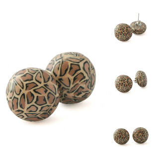 Leopard Print Stud Earrings at Lottie Of London Jewellery