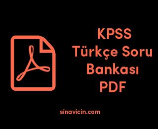 KPSS Türkçe Soru Bankası PDF 2018