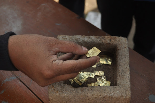 Ancient inscribed gold plaques found in central Java