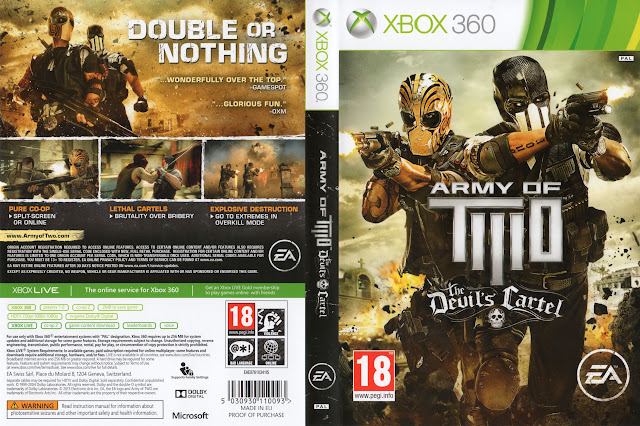 Capa xBox360 Army of Two The Devil's Cartel