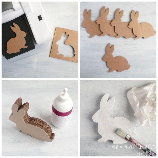 Coniglietto Shabby Chic fai da te per Pasqua - Tutorial