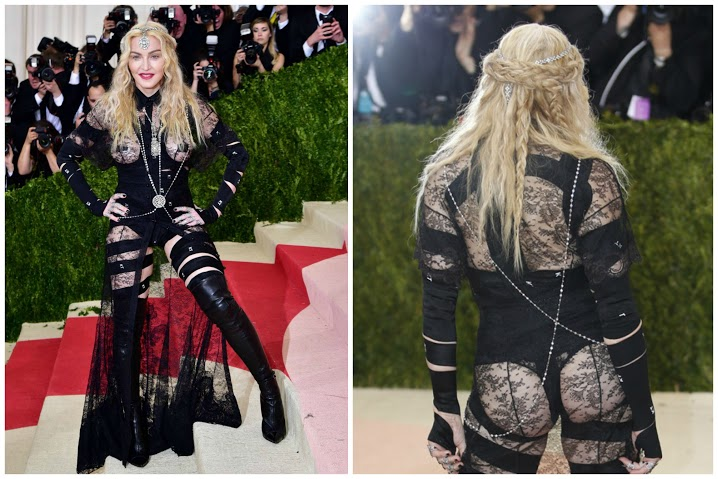 Busana Paling Seksi di Red Carpet - Madonna at the Met Gala 2016