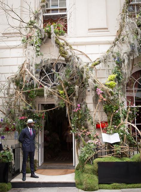 Chelsea Flower Show 2017 The sketch restaurant entrance