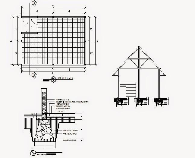HUNIAN RAKYAT: Denah Home Industri 8 m x 6 m