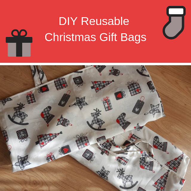 DIY Reusable Christmas Gift Bags by Keeping It Real