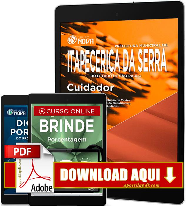 Apostila Prefeitura de Itapecerica da Serra 2016 PDF Download Cuidador