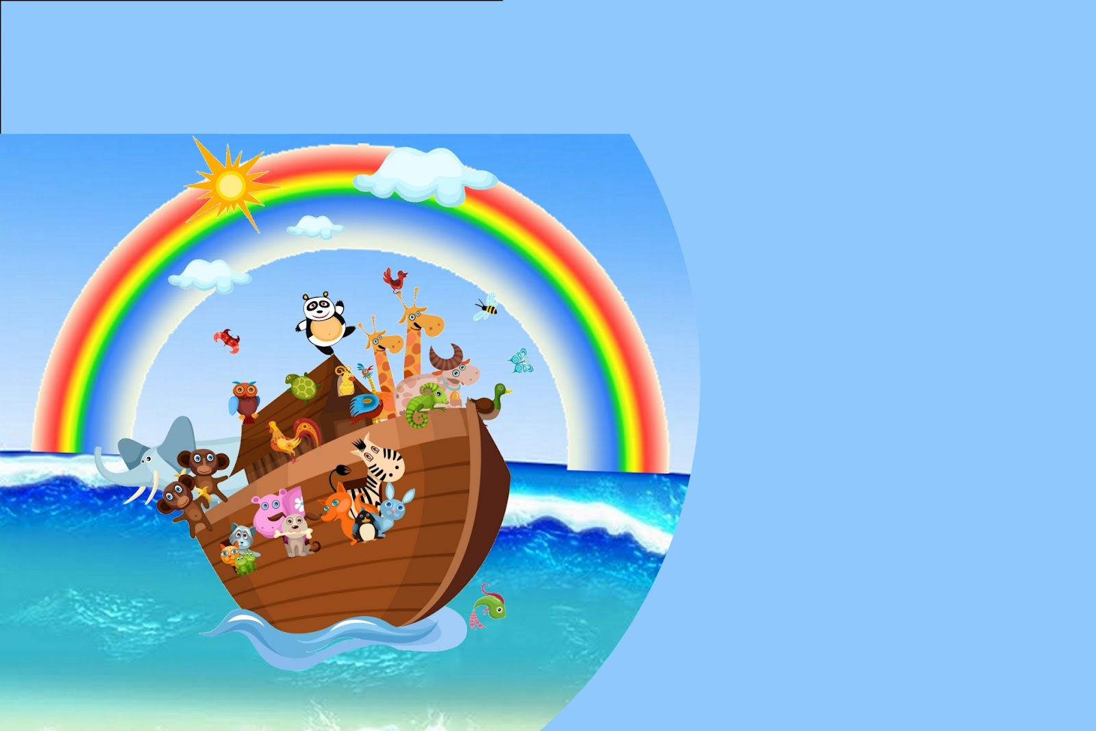 image regarding Free Printable Pictures of Noah's Ark identified as Noah´s Ark for Boys: Totally free Printable Invites. - Oh My