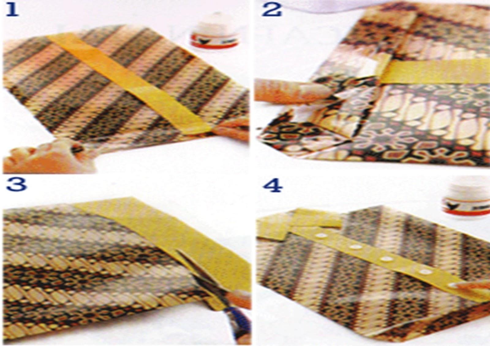 kreasiku  Cara Membuat Kado Bentuk Kemeja dengan Motif Batik 6bacca5b3e