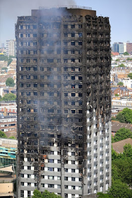 Grenfell Tower burnt-out image