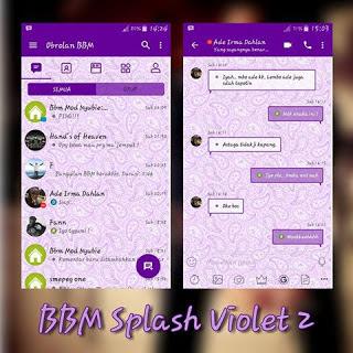 BBM MOD Splash Violet 2  V3.3.3.39 Apk Full DP