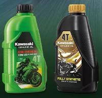 Gambar minyak pelincir Kawasaki semi synthetic dan fully synthetic