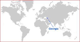 Gambar Peta letak Georgia