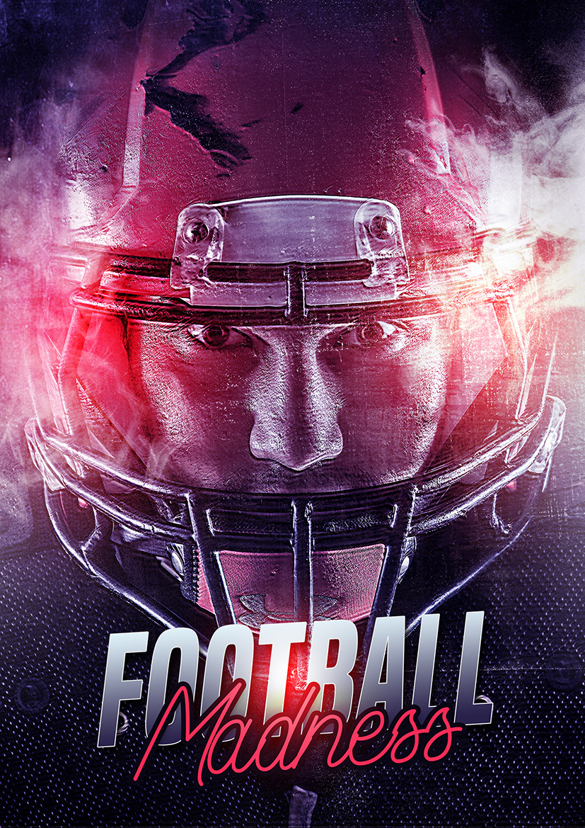 Creative American Football Sport Poster Photoshop Tutorial