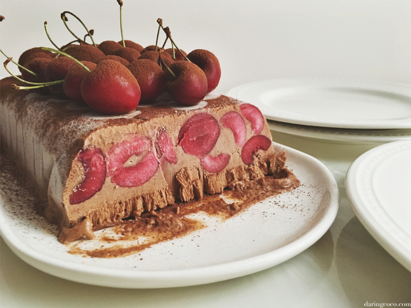 chocolate cherry semifreddo