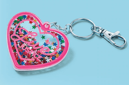 FREE Glitter Heart Bag Charm at Justice Stores - Free