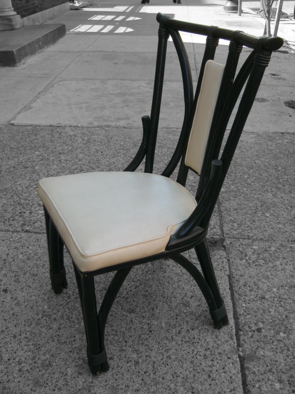 Black Rattan Chair Vintage Electric Uhuru Furniture And Collectibles Dining