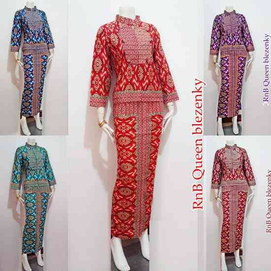 Baju Setelan Batik Wanita: Baju Wanita Modern Setelan Batik Rok Panjang