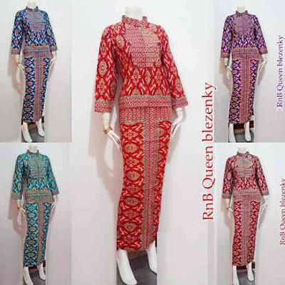 Baju Wanita Modern Setelan Batik Rok Panjang Untuk Pesta Pernikahan