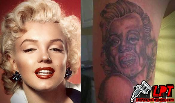 Tatuaje FAIL : Marilyn Monroe