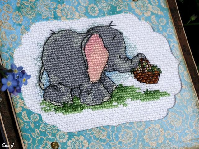 Zwierzęca wymianka kartkowa - słonie