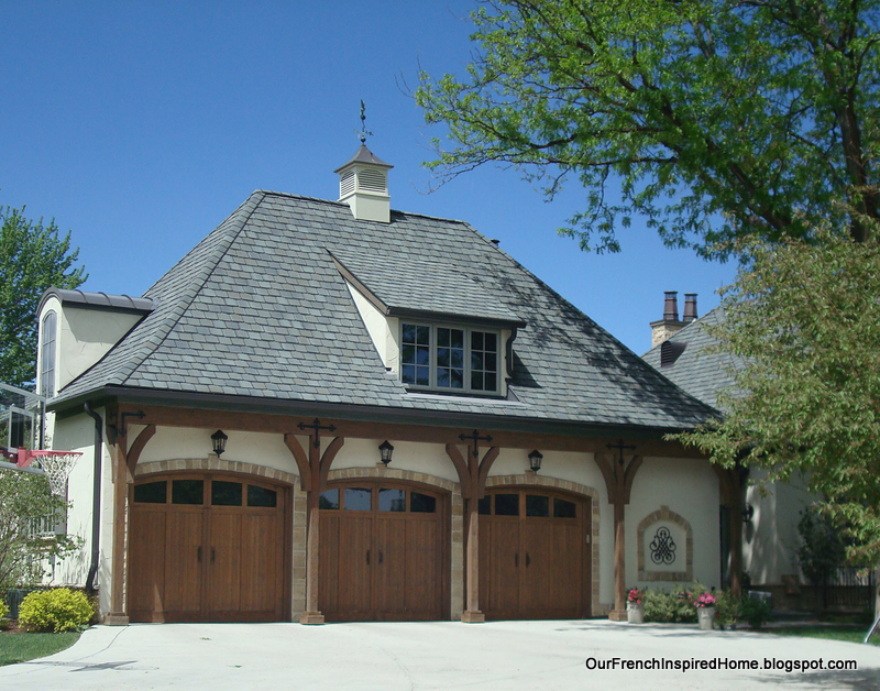 Our french inspired home european style garages and for 3 car garage door