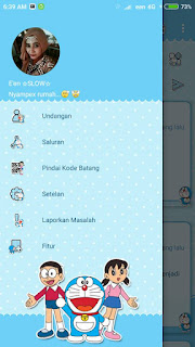 BBM MOD Doraemon Jelly Bean Screenshot