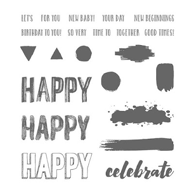 Stampin' Up! UK Independent Demonstrator Susan Simpson, Craftyduckydoodah!, Happy Celebrations, Supplies available 24/7 from my online store, Coffee &Cards Project April 2017