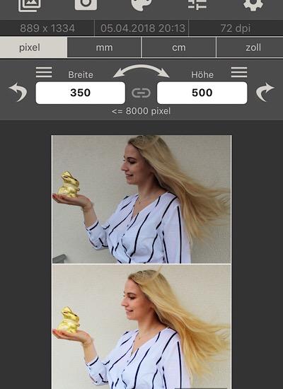 Bildgröße reduzieren