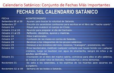 Conjunto de Fechas Más Importantes Para Los Satanistas