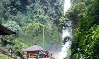 curug cimahi rainbow waterfalls bandung kabupaten bandung barat jawa barat
