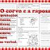 FÁBULA - O CORVO E A RAPOSA -  TRABALHANDO EXPRESSÕES POPULARES - 4º ANO/ 5º ANO