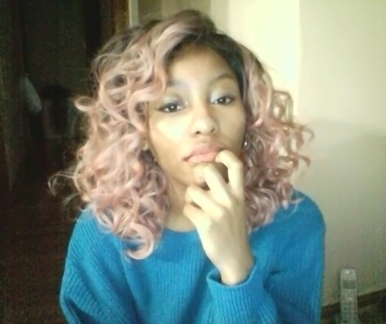All About My Pastel Pink Hair | Pastel Kawaii Review Freetree Equal Premium Delux synthetic wig spring pinkgold alternative girl pastel goth tumblr black girl