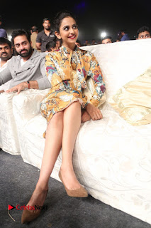 Actress Rakul Preet Singh Stills in Short Dress at Dhruva Pre Release Function  0129.JPG