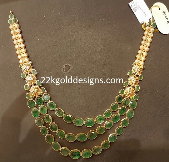 Emerald Necklace with Weight and Price