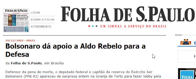 Bolsonaro defende ALDO REBELO