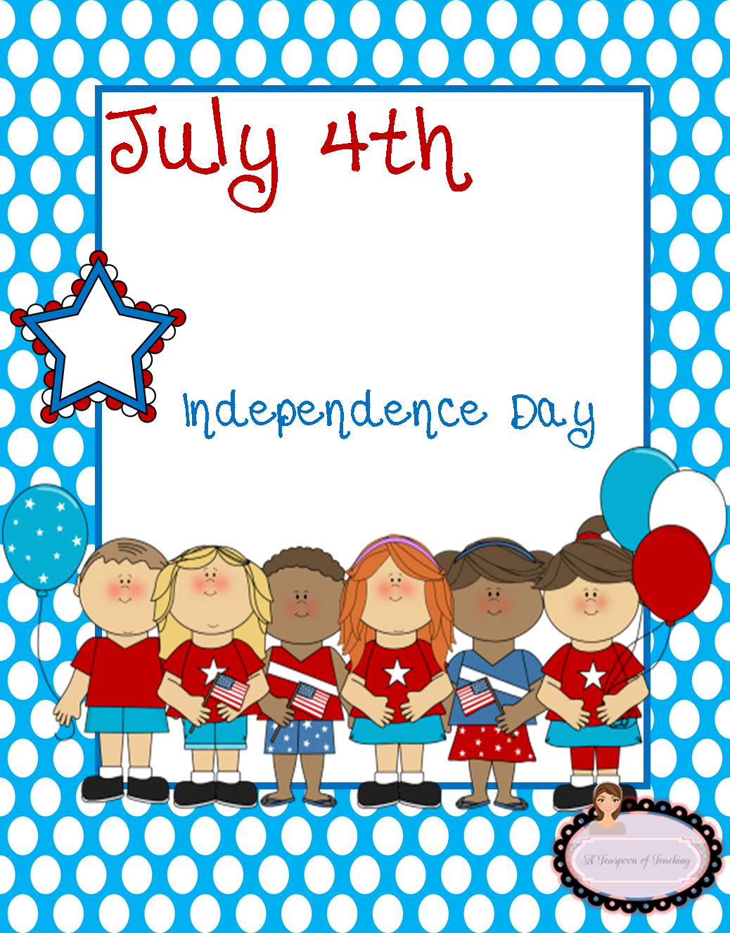 A Teaspoon Of Teaching 4th Of July Freebie