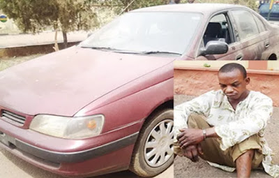 man arrested stealing car sagamu
