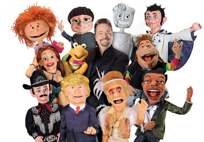Terry Fator and his puppets
