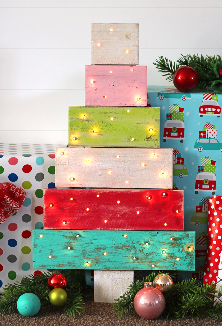 The craft patch no build pallet wood christmas tree
