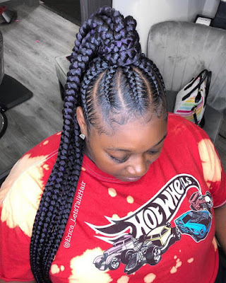 Fulani cornrow braids styles are the perfect winter hairstyle which will last for months 36 Amazing Fulani Cornrow Styles Ponytails For African Natural Hair