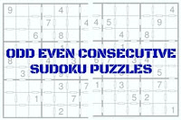 Index Page contains links to Odd Even Consecutive Sudoku Puzzles