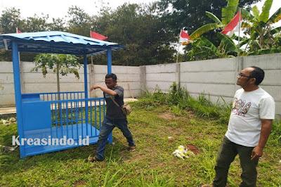 Pos Jaga Besi Pesanan Bpk Mathius di Kebon Buah Naga Rumpin Bogor