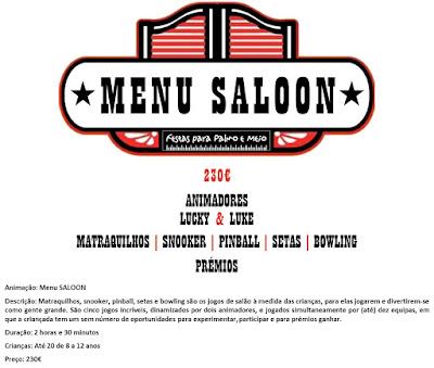 Animação Menu Saloon