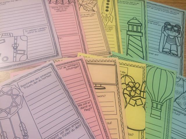 Eine bunte Auswahl an verschiedenen Schreibanlässen für die Grundschule.
