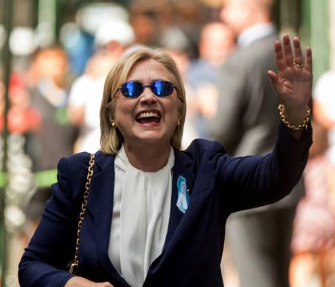 Walt whitemans world updated what hillarys sunglasses say about kind of too cool for a lady whos getting close to the three score and ten dont you think turns out those are zeiss z1 blue lenses manufactured in thecheapjerseys Images