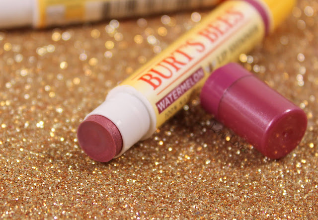 Burt's Bees Kissable Colour Set - Watermelon Lip Shimmer Swatches & Review