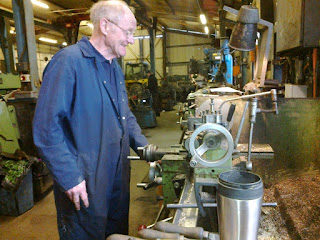 Jim making oil pots for Cochrane and No.2