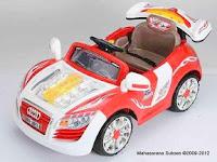 Mobil Mainan Aki Pliko PK9208N Audi dengan Kap Mesin Transparan dan Spoiler