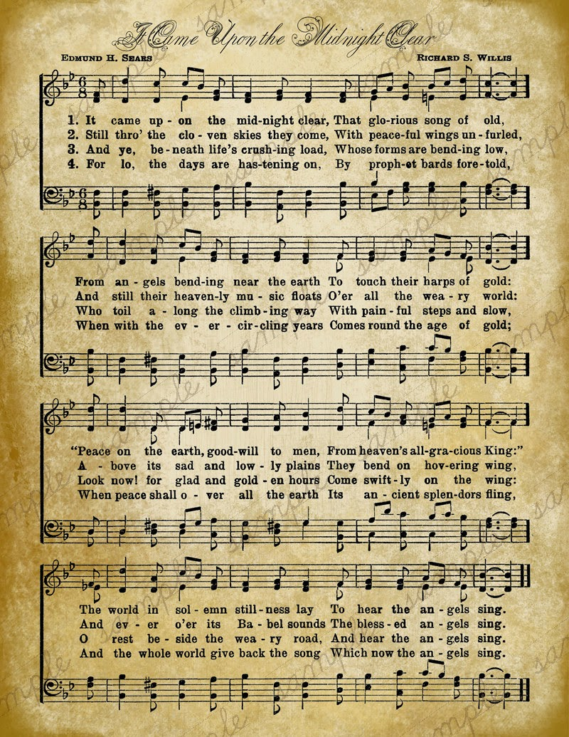 BlueBonkers Joy to the World Free Printable Christmas Carol Lyrics