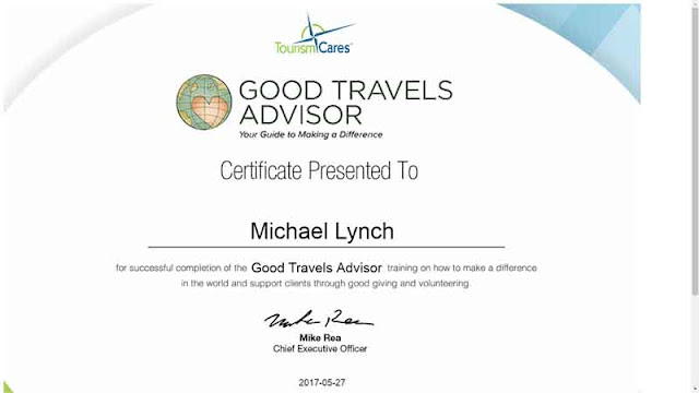 Good Travels Advisor, certificate